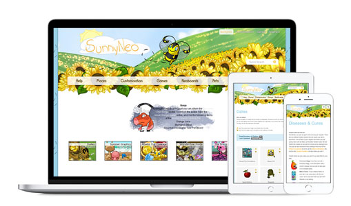 SunnyNeo.com on various mobile devices supported